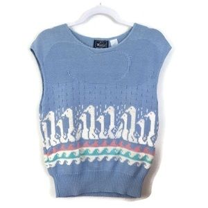 Vintage | Woolrich Kawaii Swan knit sweater vest